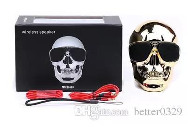 Taşınabilir Kafatası Kablosuz Bluetooth Hoparlör Süper Bas Gözlük Subwoofer Stereo Hoparlör HD ses Benzersiz Gelişmiş Bas sütun hoparlör
