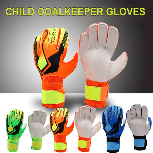 top popular Goalie Goalkeeper Gloves Soccer Gloves with Double Wrist Protection and Non-Slip Wear Resistant Latex Material for Training 2021