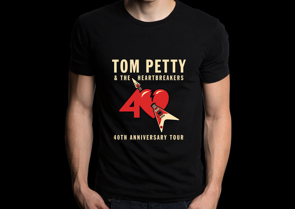 Tom Petty and The Heartbreakers 40th Anniversary 2017 Concert Tour Tee T-shirt