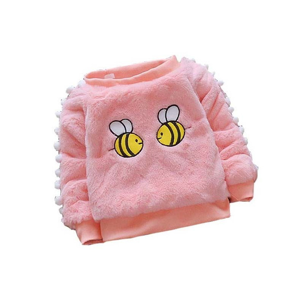 good quality 2019 Baby Sweater Kids Winter Clothes Cartoon Girls Warm Sweater Thick Tops Toddler Girls Outerwear Children Clothing
