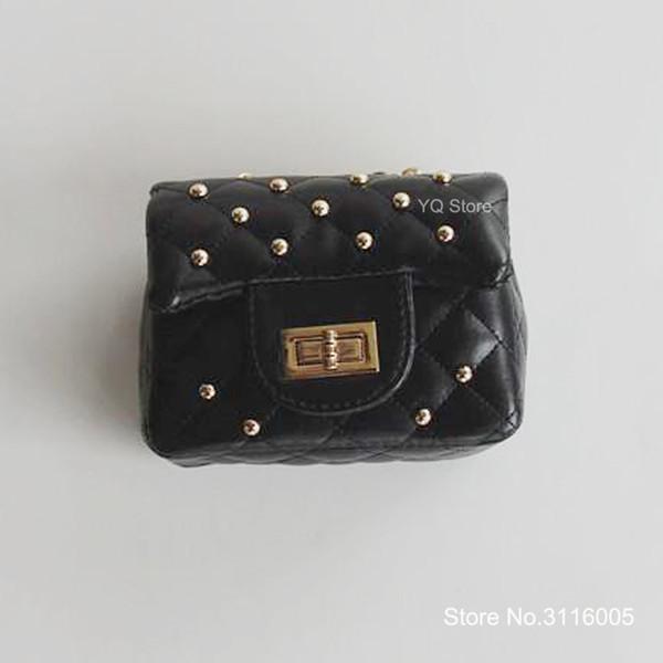 Fashion Baby Rivets Tote Bag Kid Girl Designer Messenger Bags Child Stylish Handbag Girls Shoulder Bag Kids New Purse B