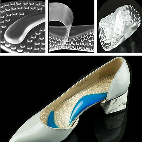 Нескользящий женский гель 3/4 длины арочной поддержки противоскользящая массажная плюсневая подушка ортопедические стельки для обуви на высоких каблуках колодки