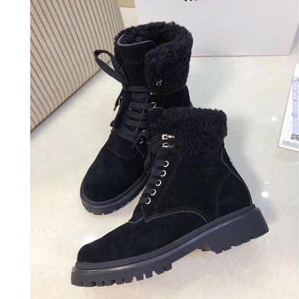 Winter Snow Boots for Women Warm Fur Leisure Plush Booties Shoes Plus Velvet with M0NCLER Origin Box Chaussures de femme Bottes Femmes
