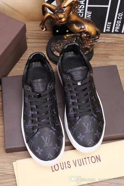 zapatos para hombre de Nueva diseñadores de alta calidad Newsest Stan de los hombres de los zapatos con cordones de cuero marca de moda Smith Hombres Mujeres Clásico zapatos de los planos casuales