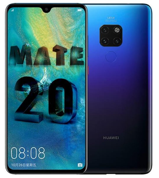Original Huawei Mate 20 Global Firmware Unlocked Cell Phone Octa Core 64GB/128GB 24MP 3 Rear Leica Cameras 6.53inch Android 9.0