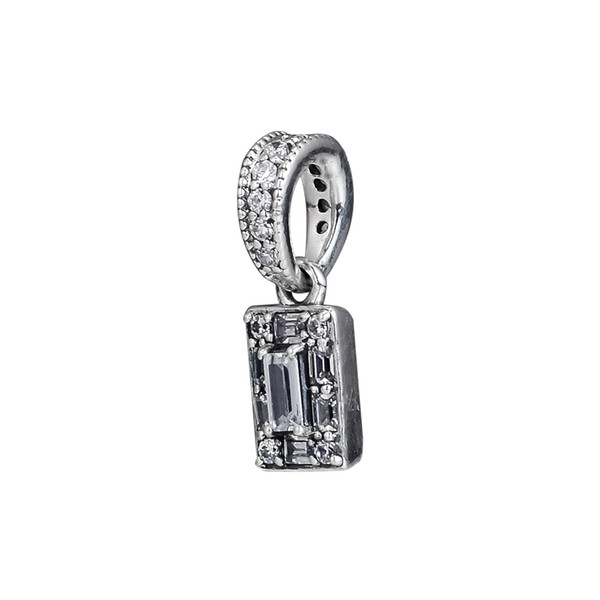 Luminous Ice Pendant Silver Charms for Jewelry Making 2018 Winter Silver 925 Jewelry Clear CZ Charms for Bracelets & Necklaces