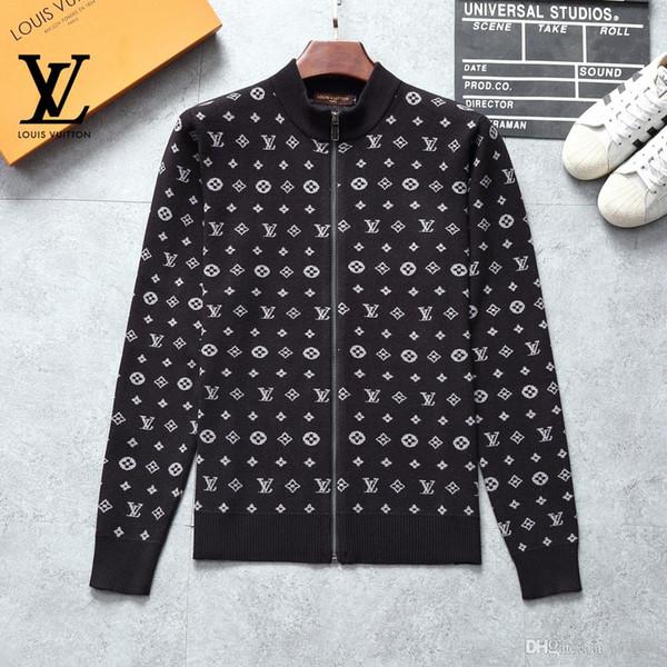 Uomo maglione libero logistica nuovi uomini di lusso casuale a maniche lunghe maglione europeo e tendenza di moda marchio americano maglione XXXL -