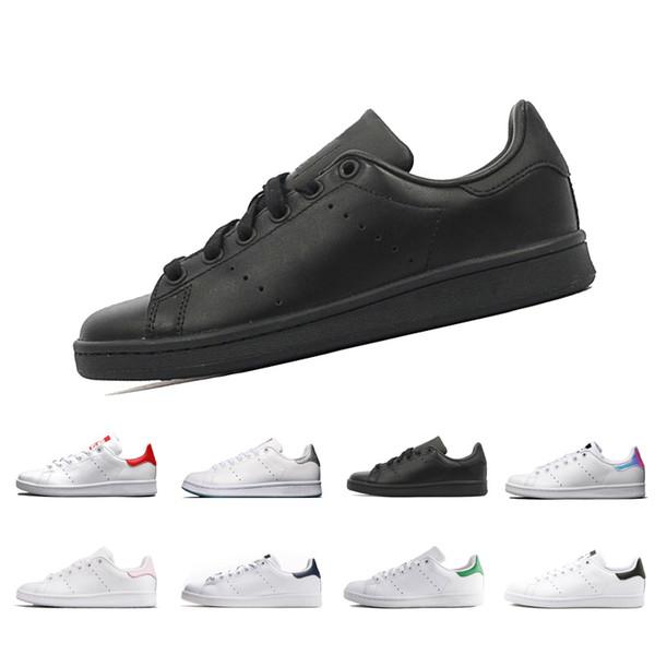 Дешевые продажи Стэн мужчины женщины Скейтбординг обувь Смит Повседневная черный белый зеленый кроссовки уличная обувь спортивная обувь тренера Дышащий евро 36-44