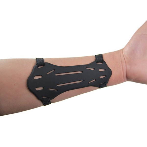 1pcs small silica gel armguards forearm protector bow archery arm protector arm guard w/2-straps hunting thumbnail