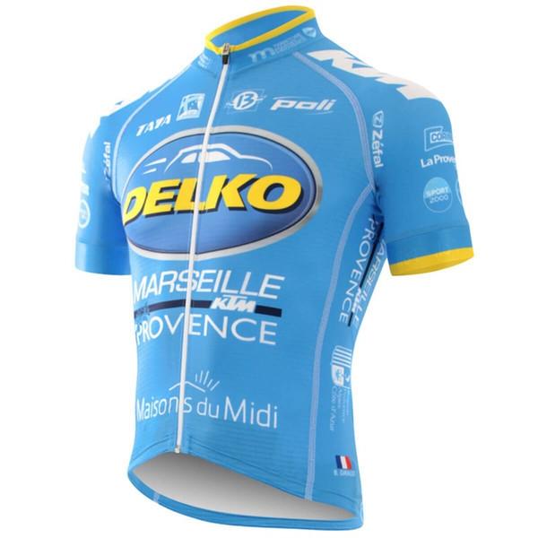Equipe Delko Mens Ciclismo Sem Mangas / Mangas Curtas jersey Bicicleta Vest tops de verão ao ar livre mountain bike equitação esporte roupas Q71610