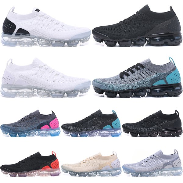 Best Quality New 2018 2.0 Men and Women Running Shoes Sneakers Sports Shoes Black White Hiking Walking Shoes Sneakers 36-45