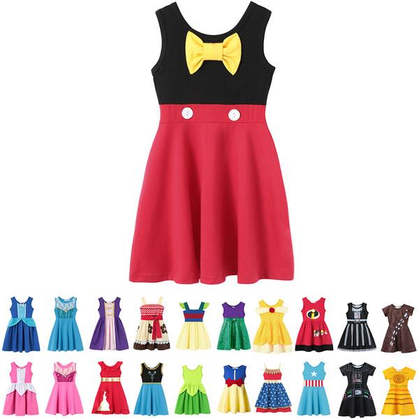 Compre Bebê Meninas Verão Roupas Casuais Personagem De Desenho Animado Cosplay Roupas Princesa Vestidos De Festa Crianças Contos De Fadas Trajes De