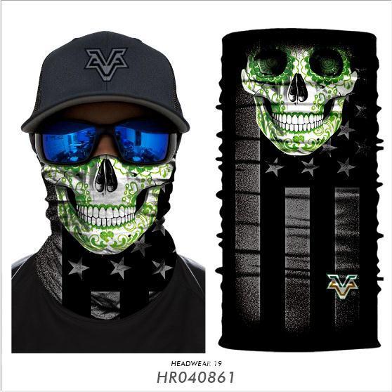 Hot 25x50cm Magic Headband Death Knight Movie Scarf Skull Skeleton Ghost Ski Cycling Headwear Headband Motorcycle Neck Bandana 3D Face Masks