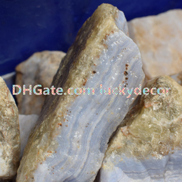 1000g Random Size Irregular Natural Raw Blue Lace Agate Gemstone Mineral Rock Specimen Untreated Rough Blue Chalcedony Crystal Nugget Stones