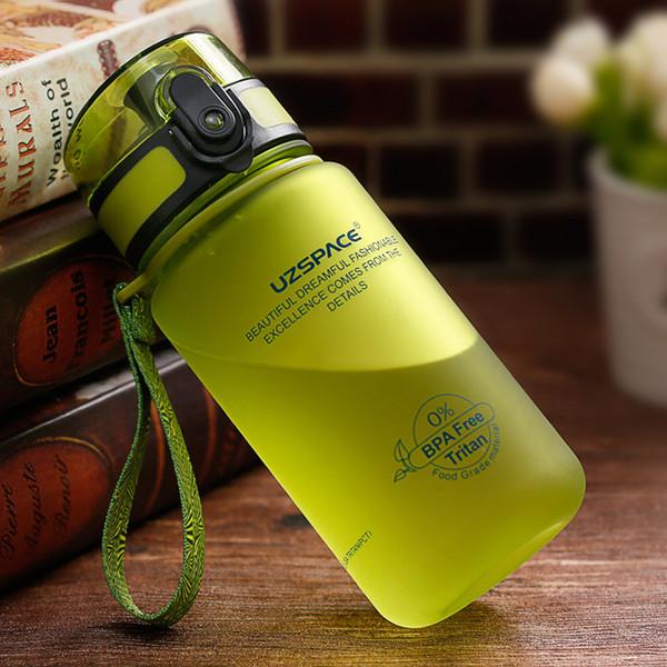 Uzspace 350ml Water Bottle Kid Cartoon Lovely Eco-friendly Plastic Shaker Sport Drink My Bottle Portable Leakproof Drinkware C19041601