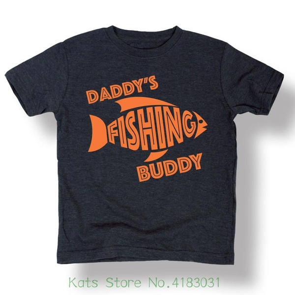 Instant Message Daddy's Fisher Buddy' Son Toddler T shirt , Kidteez Summer The New Fashion For Short Sleeve