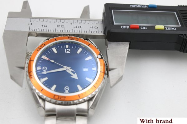 watch men automatic mechanical hand wind waches CoAxial planet ocean watch orange bezel watches men dress wristwatches