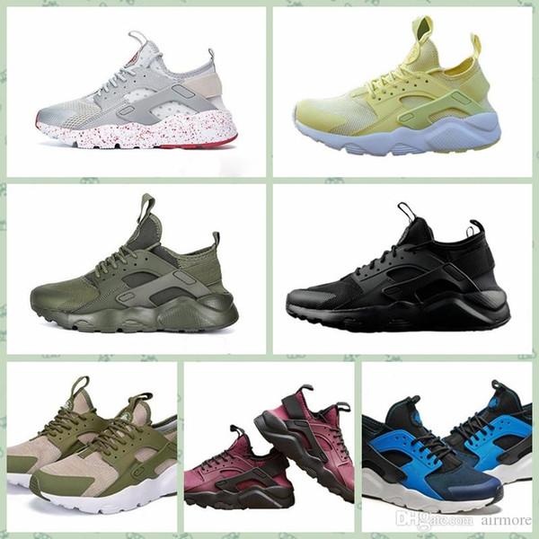 Nike Huarache 2019 Air Huarache-shoes Zapatillas para hombre Zapatillas de deporte Mujer Negro Huarache-shoess Zapatillas deportivas blancas Respiración Huarache-shoes Ultra