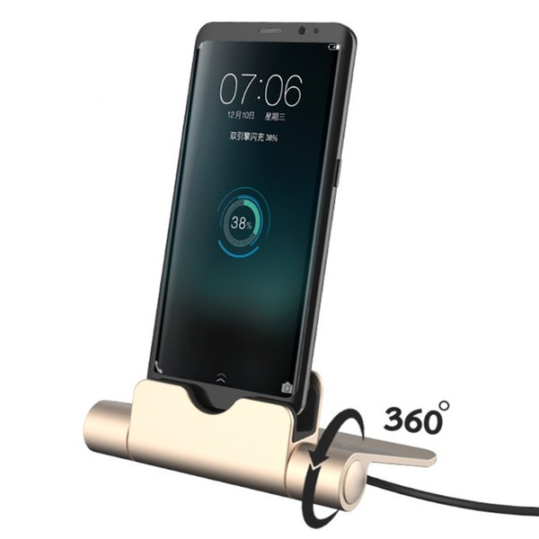 360 Вращающийся Fold Micro USB зарядное устройство док-станция для Samsung S7 S6 Xiaomi Huawei ZTE HTC DXAC