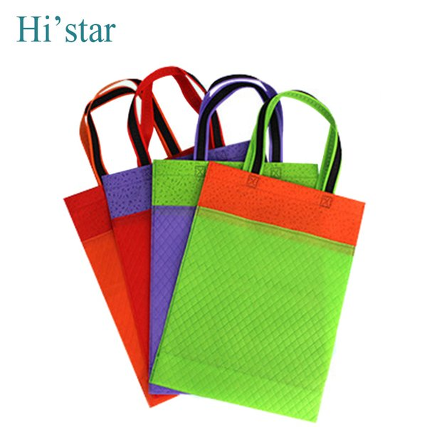 20 pieces promotional eco-friendly reusable non woven shopping bags can customized company brand logo for ads