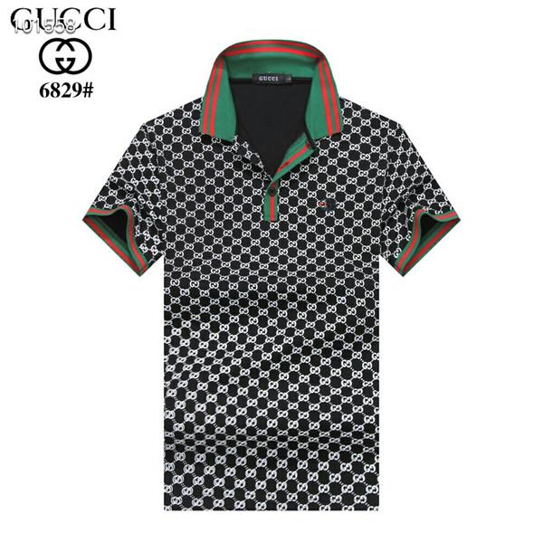Vente chaude Designer Hommes Polo Shirts Été De Luxe Polo Hommes Chemise Lâche Respirant Lettre Imprimer Mode Casual Style Marque Chemise