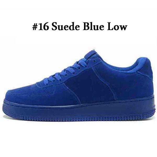 A16 Suede Blue Low