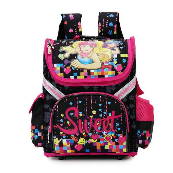 New Children Large space Schoolbag Girls Boys Backpack Student Children Kids Folding Schoolbag High Quality Orthopedic Book Bag