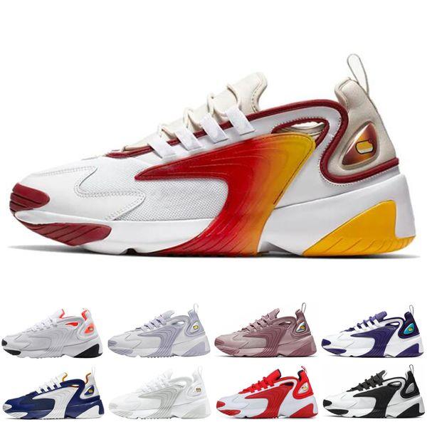Acquista Nike Zoom 2K Scarpe Da Corsa Rianbow M2K Tekno Zoom 2K Gli Uomini Rush Rosa Unite Totale Donne Della Scarpa Da Tennis Triple Nero Allenatore