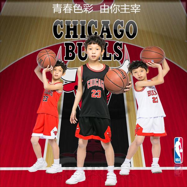 Traje de baloncesto para niños de verano Juegos de entrenamiento Ropa deportiva de baloncesto Ropa deportiva en escuelas primarias y secundarias 3XS-2XL Bull