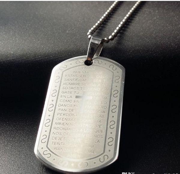 Envoi gratuit JI-311 Marque Lien Chaîne Homme collier En Acier Inoxydable Pendentif Colliers Bijoux Cadeau Choker Wholes