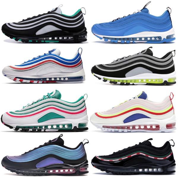 top popular Brand 1997 Undftd Black Throwback Future Corduroy Running Shoes Men Women Triple Black Silver Bullet Sport Designer Sneakers 2019