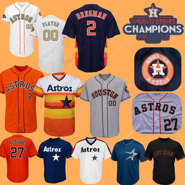 another chance 88d88 9de6e 2019 Custom Houston Alex Bregman Jersey Astros Carlos Correa Springer  Altuve Verlander Ryan Bagwell Biggio Gurriel Brantley Men Women Youth From  ...