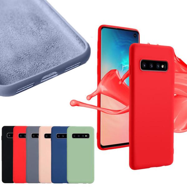 360 cobertura completa imitado líquido silicone tpu case para iphone x xs max xr 8 7 6 samsung s7 s8 s9 s10 5g mais s10e nota 5 9 a6 a7 2018 a750