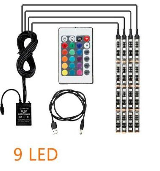 USB / 4PCS / 9LED / 36LED