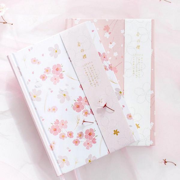 2020 2018 Notebook A5 Japanese Kawaii Cute Sakura Flower Planner
