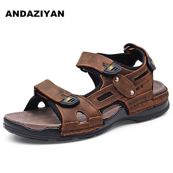 Sandali da spiaggia in pelle per uomo