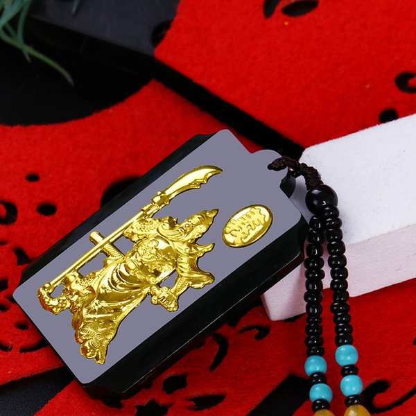 Brass Knuckles Free Shipping Druzy Hetian Jewellery Inset S Guan Gong Pendant Swagger Male Money Gift Accessories Wholesale