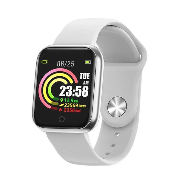bakeey qw21 heart rate blood pressure oxygen monitor smart watch multi-sport modes intelligent alarm clock bracelet men women