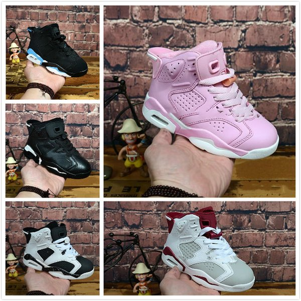 Free shipping 2018 Children's 6 VI men Shoes Kids 6s casualBoys Girls Youths Baby outdoor men size 28-35