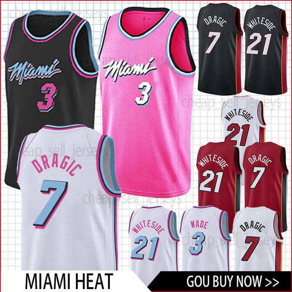 best service 1635b 8e650 2019 Men Heat Jersey 7 Dragic 3 Wade 21 Whiteside Basketball Jersey Men  Fans Clothes Printed Top Sale From Cheap_sell_jerseys, $19.77 | DHgate.Com
