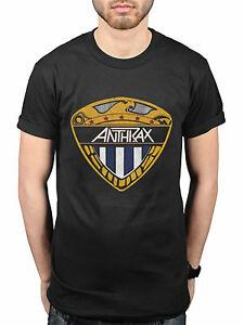 Official Anthrax Eagle Shield NUEVA camiseta Band Metal O-NeO-Neck Slayer Megadeth