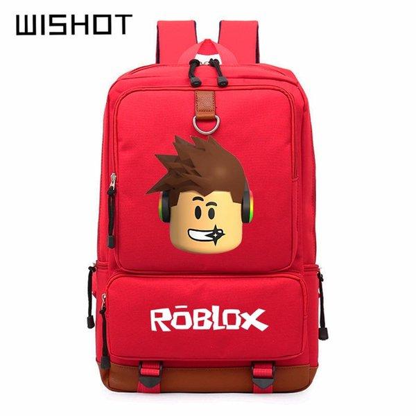 WISHOT Roblox spiel casual rucksack für jugendliche Kinder Jungen Kinder Student Schultaschen reise Umhängetasche Unisex Laptop Taschen