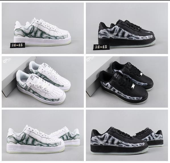2020 Top Qualität FORCE SKELETON Luminous extrem weich Lederoberfläche Neo Fashion Sneaker Damen Herren Kinder des'S Liebhaber Rennen Sport Schuh