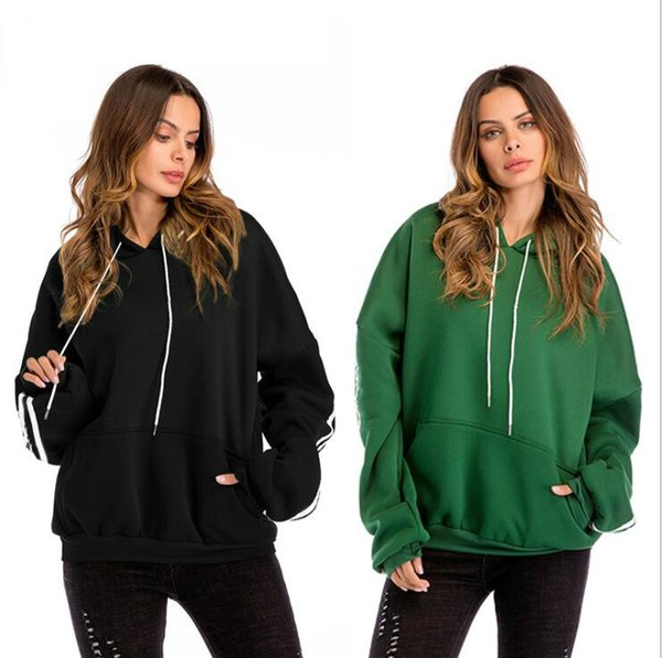 Hoodies for Women Sweatshirts 2019 Fashion Thick Lady Outerwear Batwing Sleeve Hooded Coat Clothing 3 Colors S-3XL