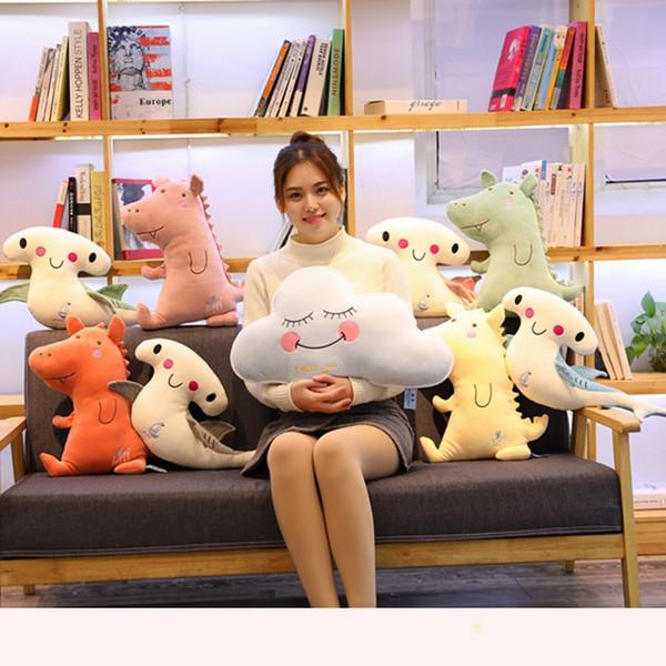 Cute Simulation Cloud&Pig&Shark Plush Pillow Soft Cartoon Animal Whale Stuffed Doll Sofa Chair Cushion House Decoration Kid Gift