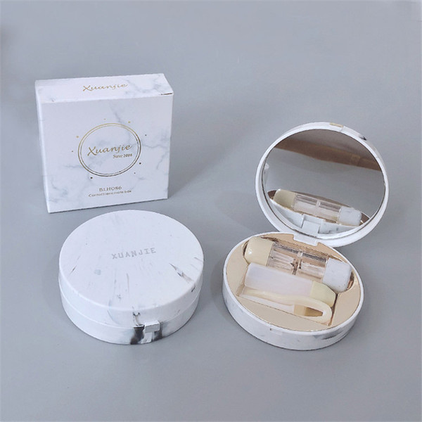 RGP Marble pattern Round Contact lens case INS temperament contact lens case travel glasses as gift care box .com Online shopping.We offer the best wholesale price, quality guarantee, professional e-business service and fast shipping . You will be satisfied with the shopping experience in our store. Look for long term businss with you.