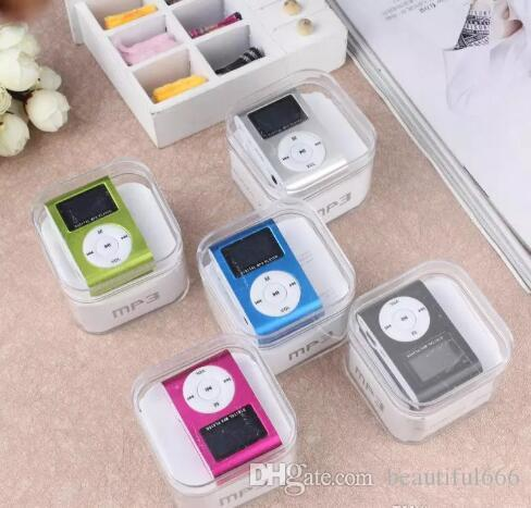Top Promotion Metal Clip Style Mini MP3 Plugging Card Player Mini Metal Clip MP3 Player(Crystal Box Packed)