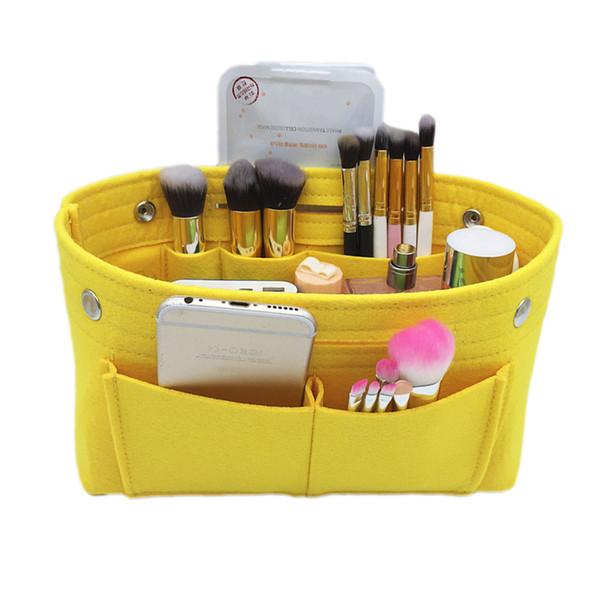 Felt  Bag Handbag Organizer Insert Pouch Women Fashion Toiletry Cases Portable Multi-functional Bag in For Female New