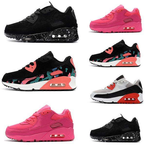 Großhandel Nike Air Max 90 Kinder Turnschuhe Presto 90 II Kinder Sport Orthopädische Jugend Kinder Trainer Infant Mädchen Jungen Outdoor Schuhe 4