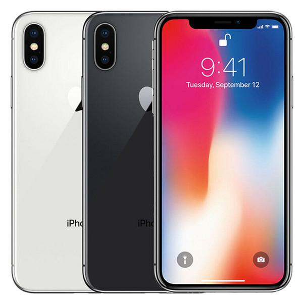 Refurbi hed original apple iphone x 5 8 inch a11 bionic io hexa core 3gb ram 64gb 256gb rom 12mp camera unlocked mart phone dhl 1pc